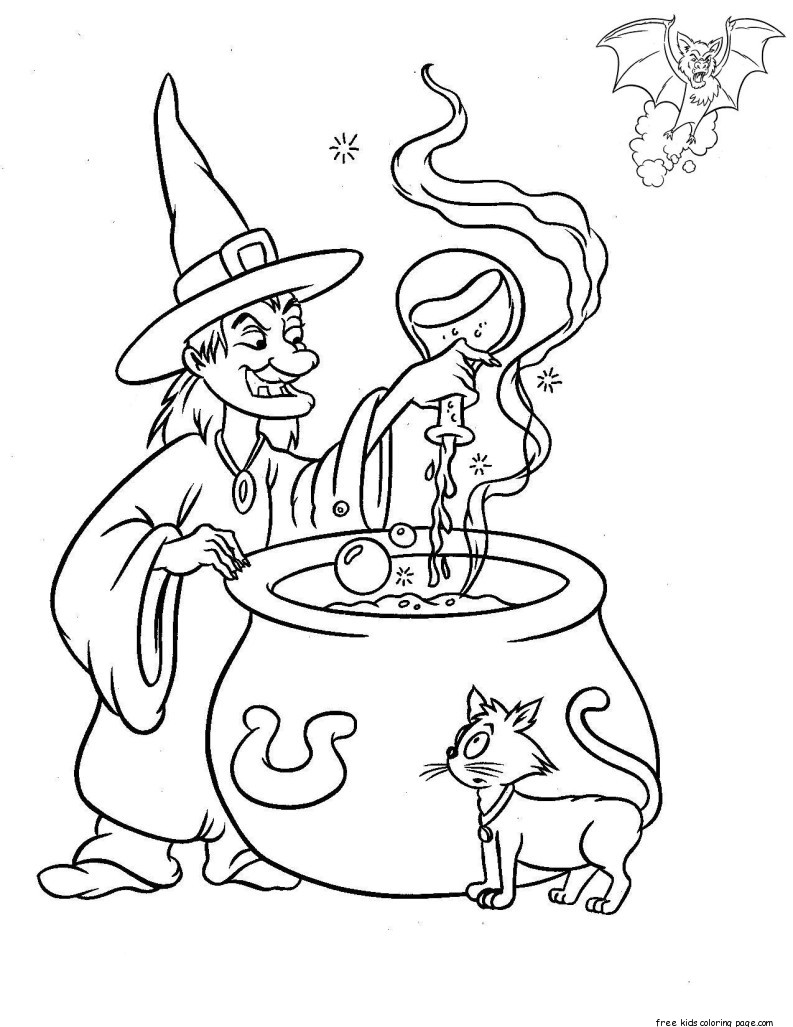 printable halloween witches make