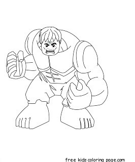 Superhero Hulk Coloring Pages on lemon car