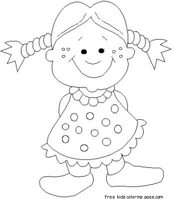 Doll Coloring Pages For Kids PrintableFree Printable