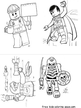 Lego Batman 2 Dc Super Heroes Coloring Pages For KidsFree Printable