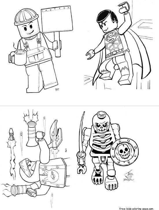 Print out lego super heroes coloring page for boy Free