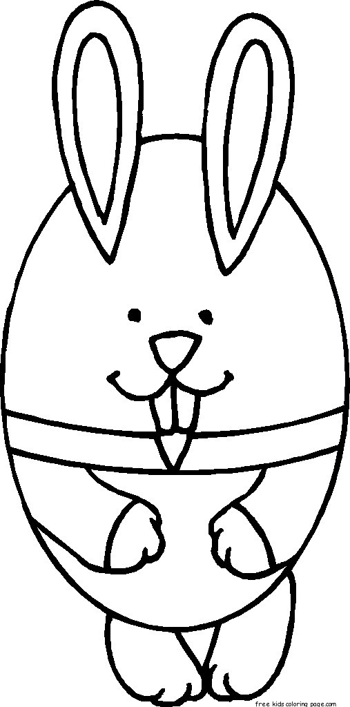 Printable Easter Bunny And Eggs Coloring Pages For KidsFree Printable Coloring Pages For Kids
