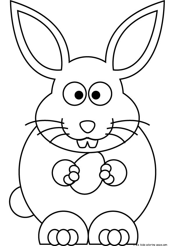 free printable easter bunny coloring sheets for kidsFree ...