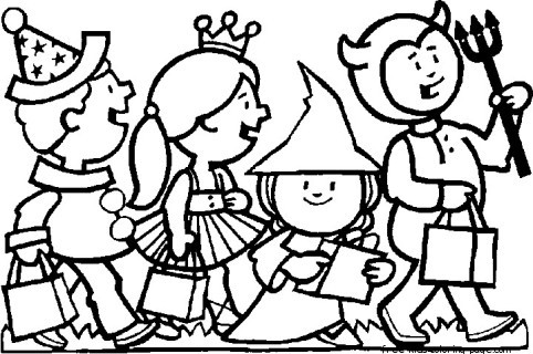 halloween costumes kids scary coloring page for kidsFree Printable