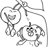 print out funy Apple face coloring book pages