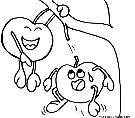 Print out banana coloring pages for preschoolersFree Printable