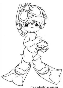 scuba gear coloring pages - photo#21