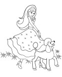 Printable beautiful Barbie coloring pages