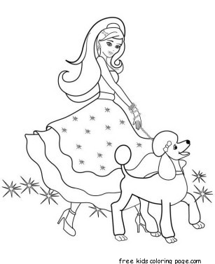 Printable Beautiful Barbie Coloring Pages For Girls To PrintFree