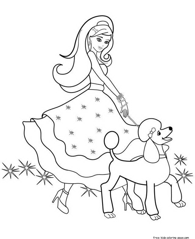 free barbie halloween coloring pages - photo#23