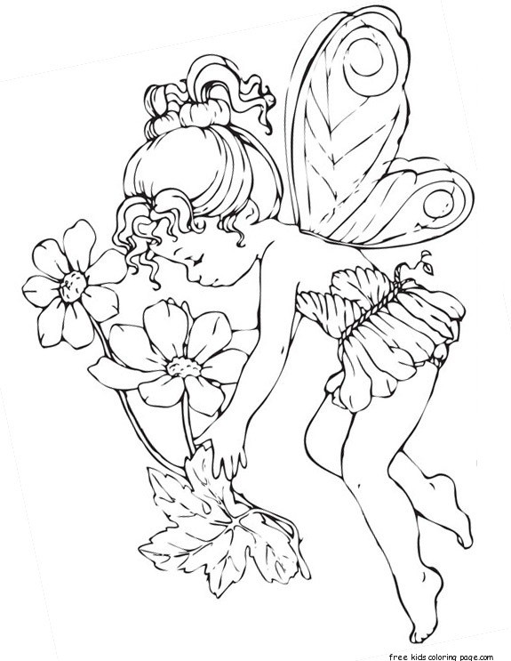 Fairy Coloring Pages For Adults Printablefree Printable