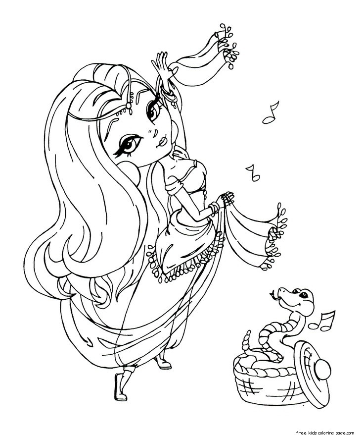 Belly Dancer Coloring Pages Free | Coloring Pages