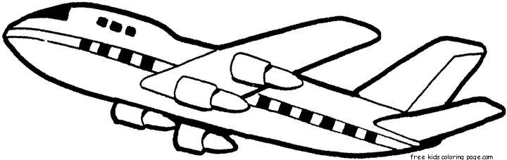 printable boeing 707 air force one coloring page for