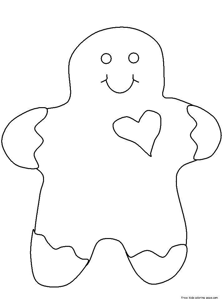 printable gingerbread man happy