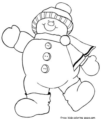 happy snowman christmas stocking coloring pages for