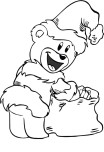 Christmas Santa Bear coloring print out