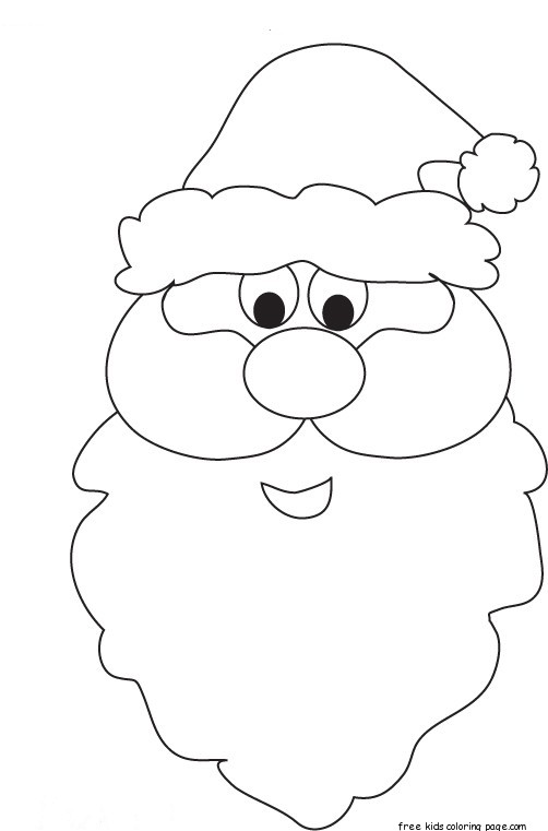 printable santa face coloring pages for kidsfree printable