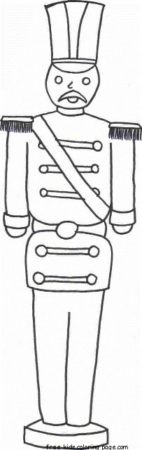 Print Out Christmas Toy Soldier Coloring Pages For