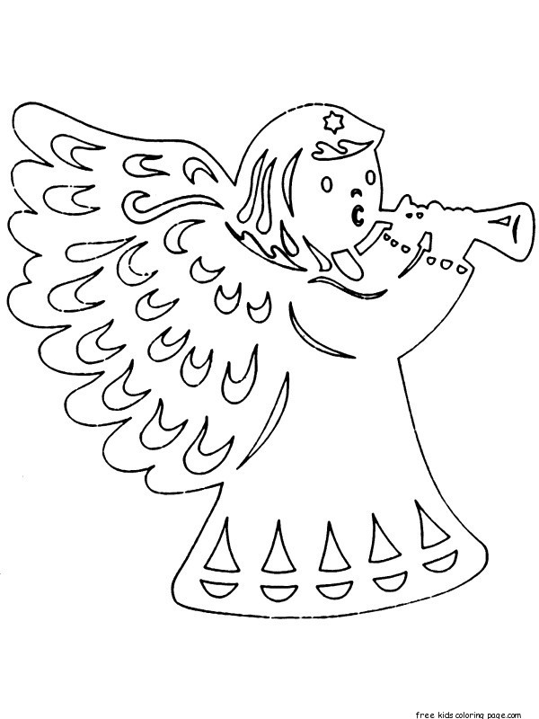 Prinable Christmas Coloring Pages Cut Outs For Kidsfree