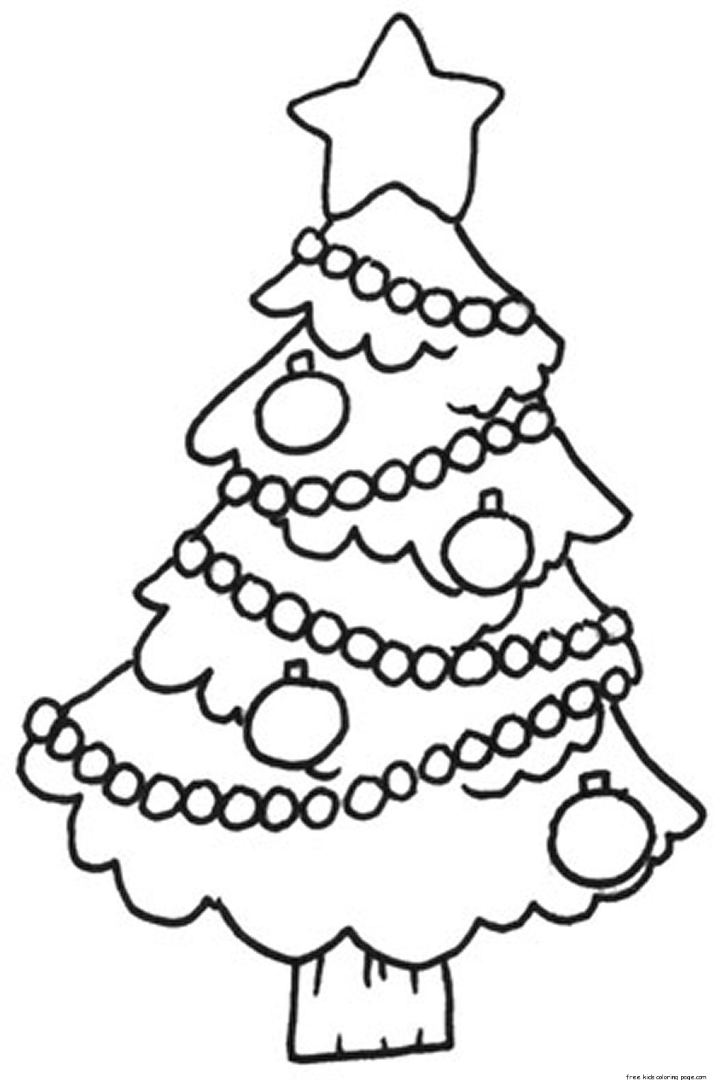 printable decorated christmas tree pictures coloring in