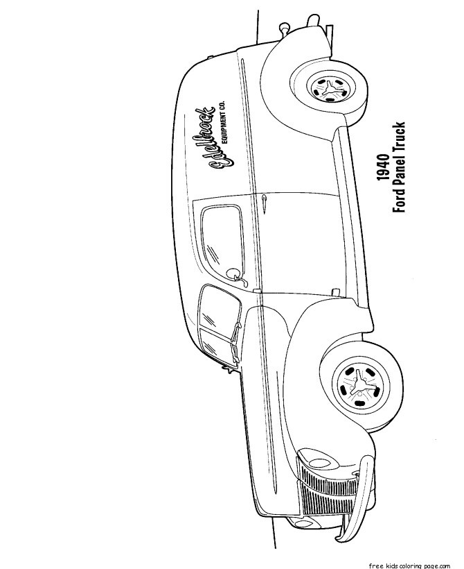ford truck coloring pages to print for kidsfree printable