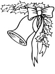 Free Kids coloring pages of Christmas Bells