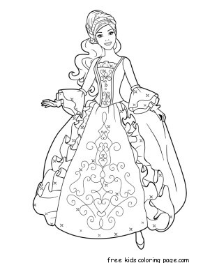 print - Princess Printable Coloring Pages