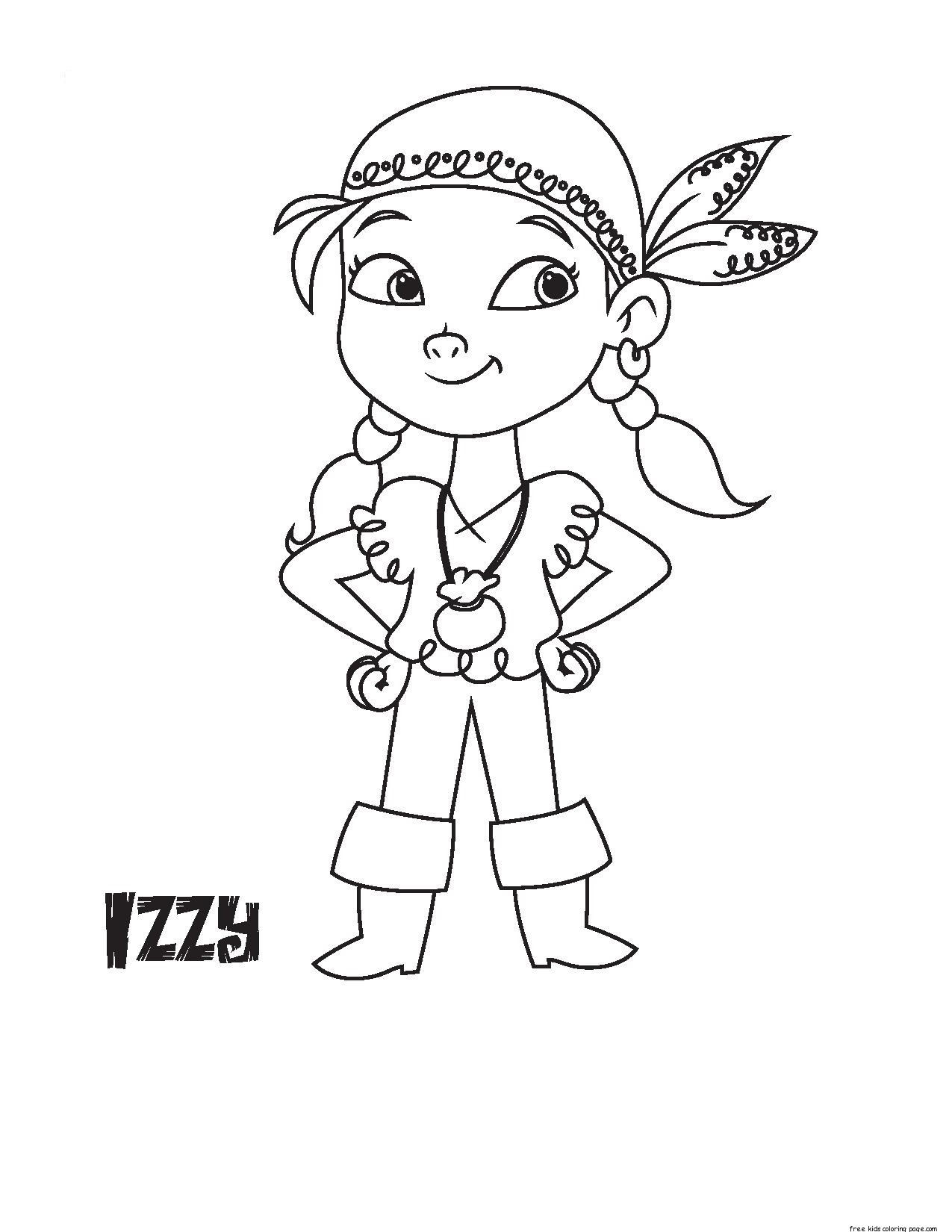 Printable Disney Junior Izzy coloring