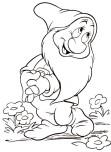 Printable coloring pageg 7 Dwarf Disney