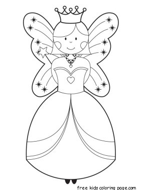 Free disney cute fairy coloring pages printable for for Cute fairy coloring pages