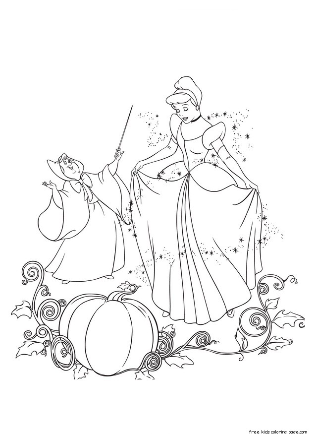 Printable cinderella and fairy