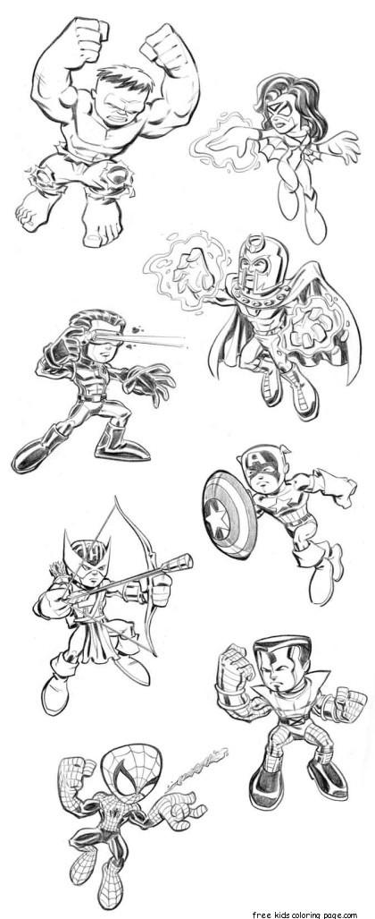 Printable lego superheroes the