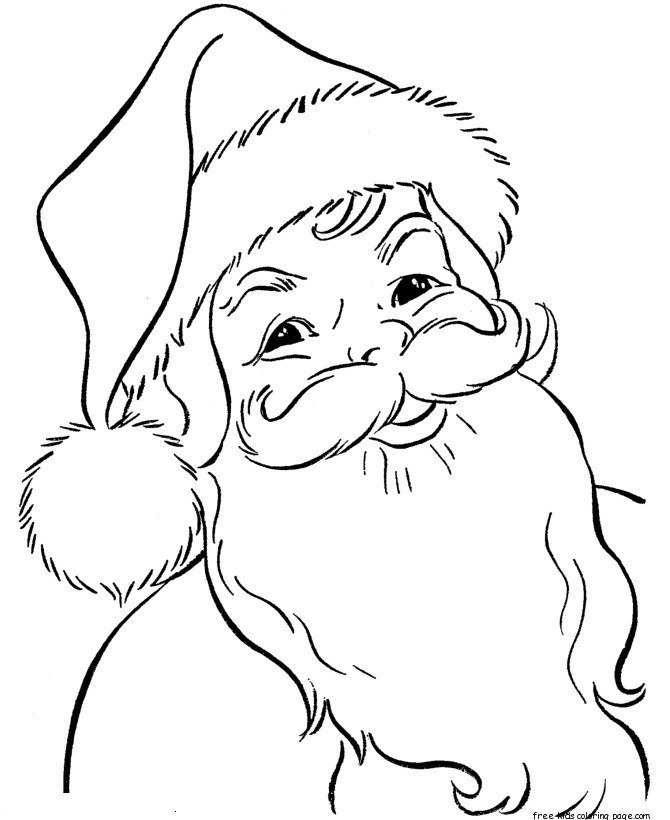 printable santa claus face coloring pictures for kidsfree