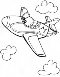 jet air plane whit face coloring pages