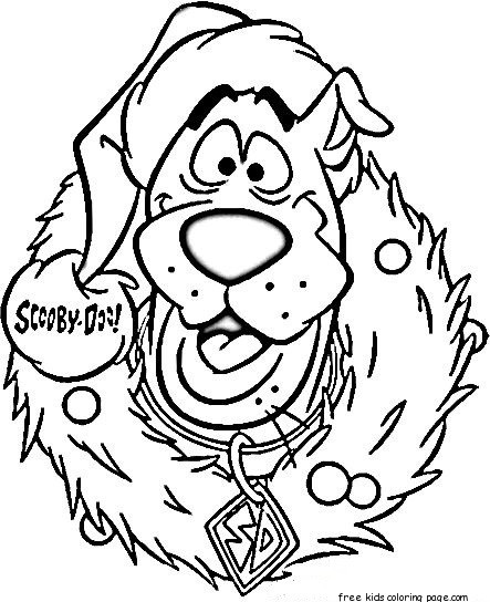 print out cartoon scooby doo wreath