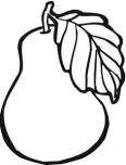 Print out Fruit pear coloring page