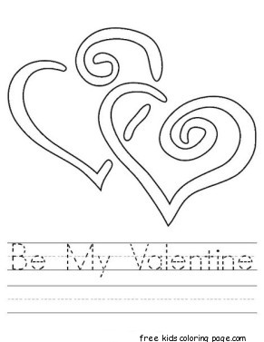 be my valentine printable coloring pagesfree printable coloring pages for kids. Black Bedroom Furniture Sets. Home Design Ideas