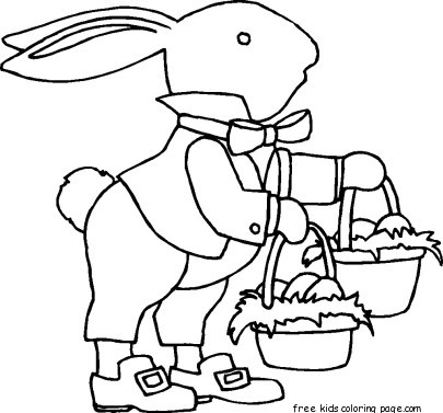 Free Printable Easter Bunny Basket Template For Kidsfree