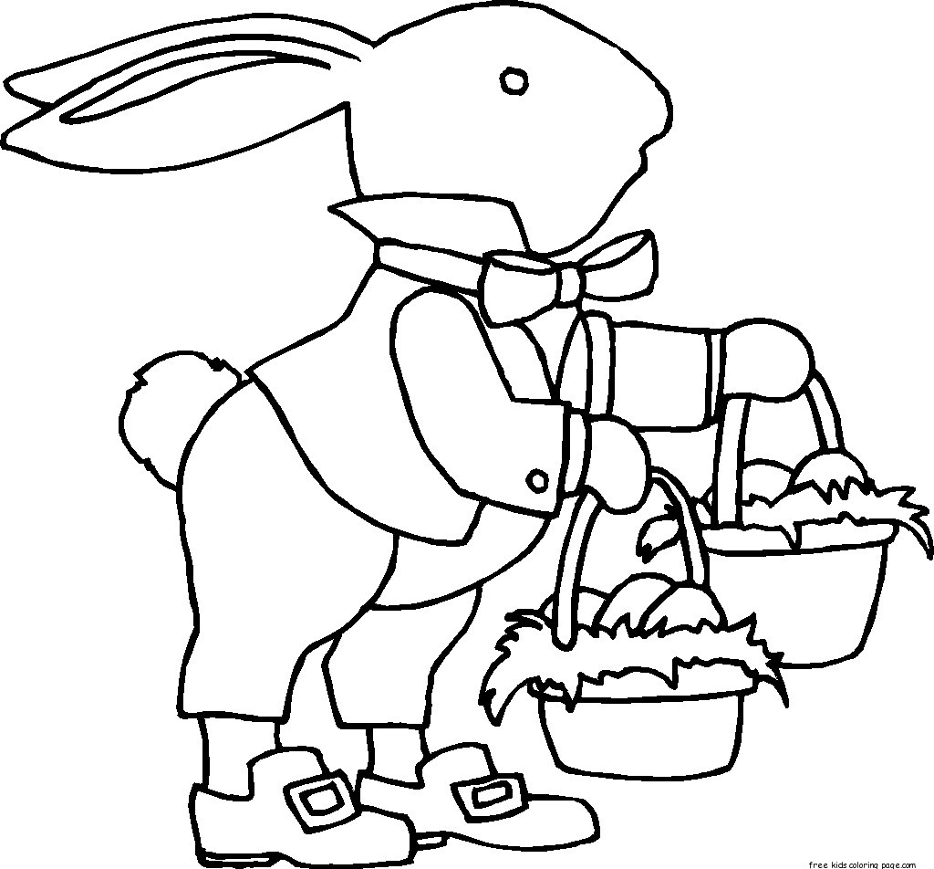 Printable Easter Bunny With Two