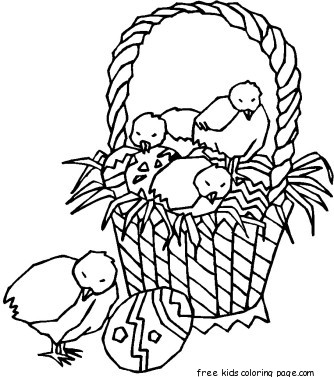 Printable Easter Chicken Eggs Pictures Coloring Pages For KidsFree