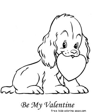 Happy Valentines Day Hearts Coloring Pages. Print out valentine dog made from hearts colorign pages for