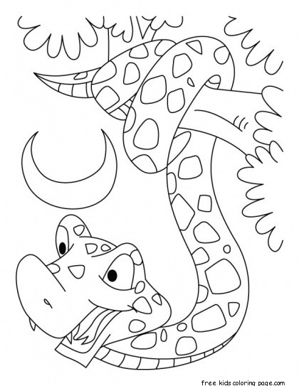 Print out king cobra snake coloring