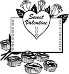 Printable Sweet valentine heart coloring page