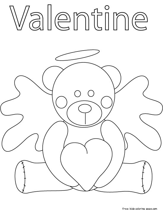 Print out pooh bear valentines day coloring pages for