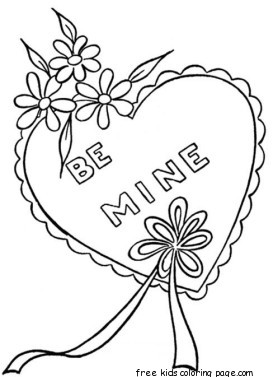 Printable Happy Valentines Day Heart Coloring Pages For