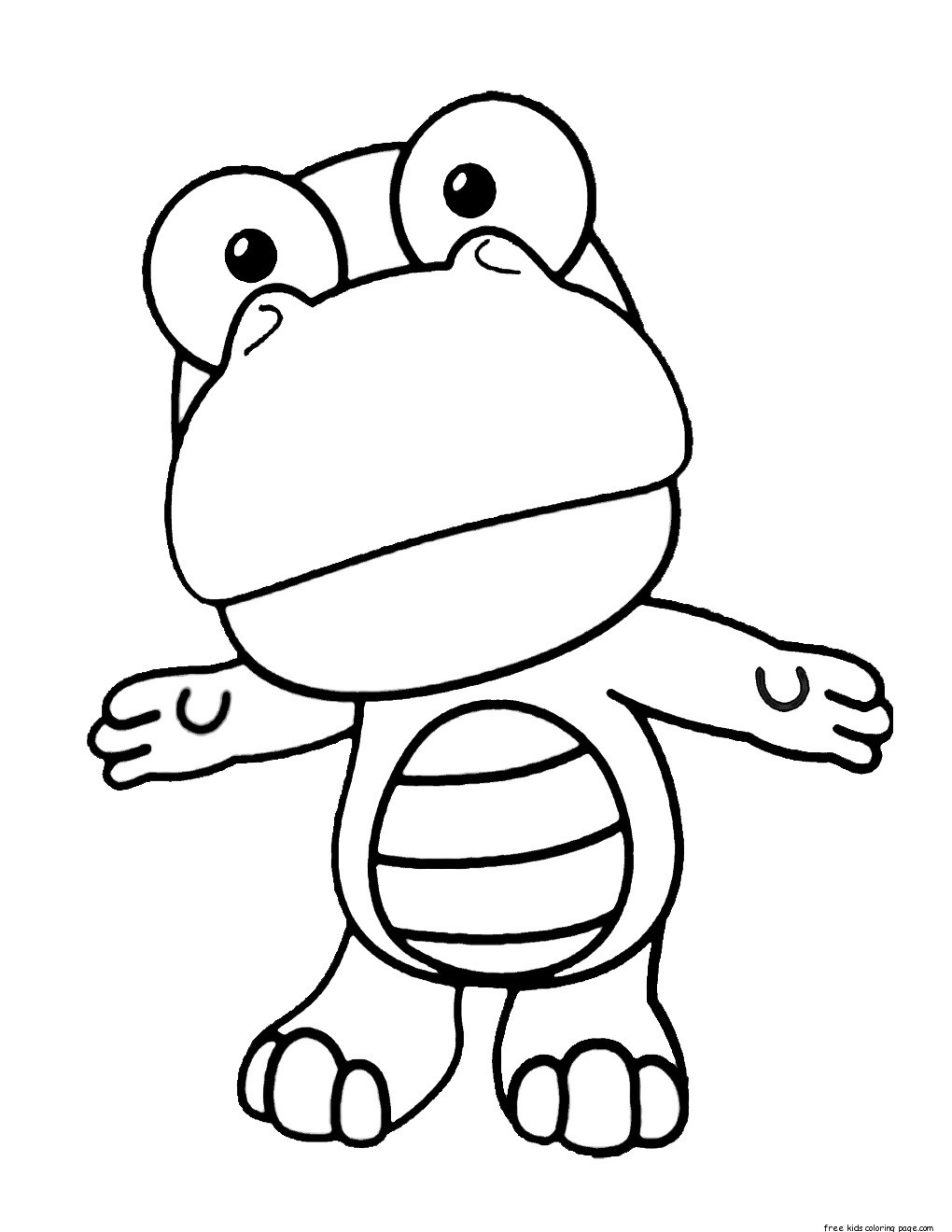 Printable Disney Pororo the Little Penguin Crong coloring ... A Coloring Page