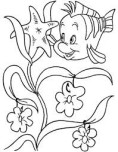 Printable Flounder the Little Mermaid  Coloring Pages For Girls