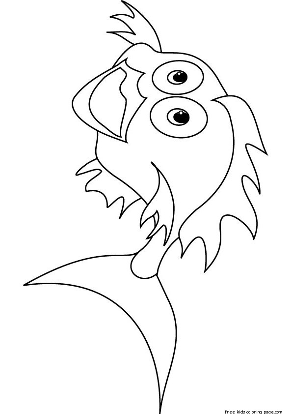 Printable Goldfish Bowl Coloring Page For KidsFree Printable Coloring Pages For Kids