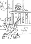 Printable valentine Boy singing a love song coloring page