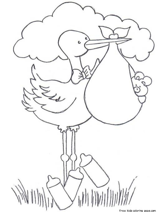 Free coloring pages of baby diaper